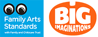 Big Imaginations & Family Arts Standards Logo